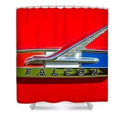 1964 Ford Falcon Emblem Shower Curtain by Jill Reger