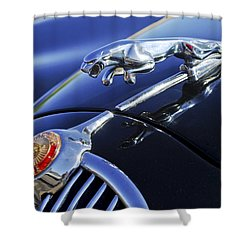 1964 Jaguar Mk2 Saloon Shower Curtain by Jill Reger