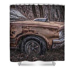 1964 Pontiac Shower Curtain by Ray Congrove