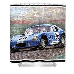 1964 Shelby Daytona Shower Curtain by Jack Pumphrey