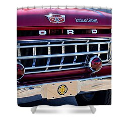 1965 Ford American Lafrance Fire Truck Shower Curtain by Jill Reger