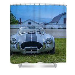 1965 Ford Shelby Cobra American Roadster Shower Curtain by Ken Morris
