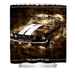 1965 Ford Shelby Mustang Gto-350 #5 Shower Curtain