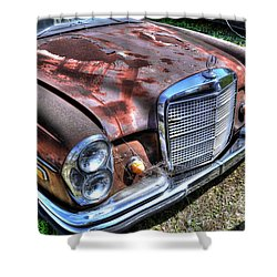 1965 Mercedes-benz Shower Curtain by Paul Mashburn