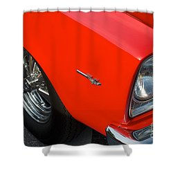 1965 Plymouth Belvedere Shower Curtain by Mark Dodd