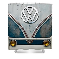 Shower Curtain featuring the photograph 1965 Vw Volkswagen Bus by Jani Freimann
