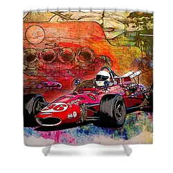 1966 9 Eagle Indy Shower Curtain