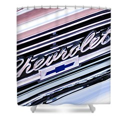 1966 Chevrolet Biscayne Front Grille Shower Curtain by Jill Reger