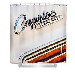 1966 Chevrolet Caprice Grille Emblem Shower Curtain