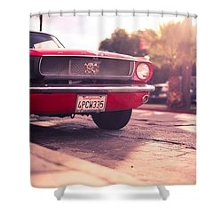 Shower Curtain featuring the photograph 1966 Ford Mustang Convertible by Gianfranco Weiss