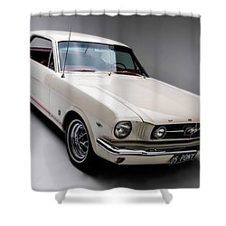 Shower Curtain featuring the photograph 1966 Gt Mustang by Gianfranco Weiss
