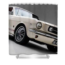 Shower Curtain featuring the photograph 1966 Mustang Gt by Gianfranco Weiss