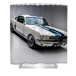 Shower Curtain featuring the photograph 1966 Mustang Gt350 by Gianfranco Weiss