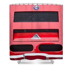 1967 Alfa Romeo Tz2 Zagato Coupe Hood Ornament Shower Curtain by Jill Reger