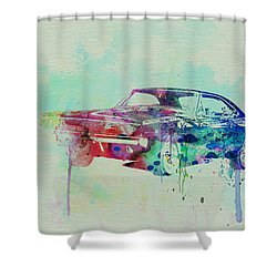 1967 Dodge Charger  2 Shower Curtain by Naxart Studio