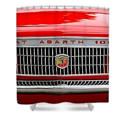 1967 Fiat Abarth 1000 Otr Grille Shower Curtain by Jill Reger