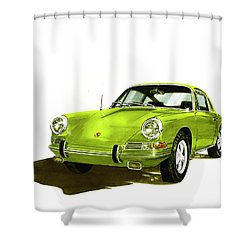 1967 Porsche 911  Shower Curtain