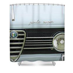 1968 Alfa Romeo Giulia Super Grille Shower Curtain by Jill Reger