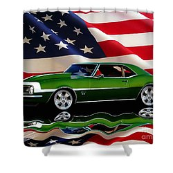 1968 Camaro Tribute Shower Curtain by Peter Piatt