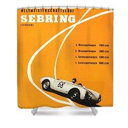 1968 Porsche Sebring Florida Poster Shower Curtain