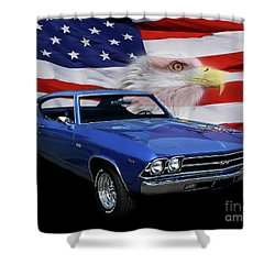 1969 Chevelle Tribute Shower Curtain