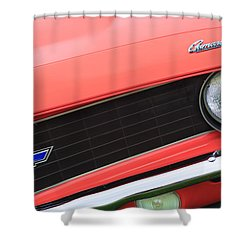 1969 Chevrolet Camaro Copo Replica Grille Emblems Shower Curtain by Jill Reger