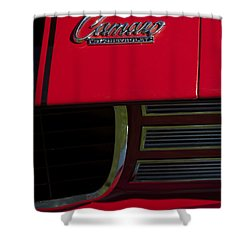 1969 Chevrolet Camaro Rally Sport Emblem Shower Curtain by Jill Reger