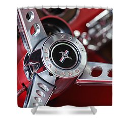 1969 Ford Mustang Mach 1 Steering Wheel Shower Curtain