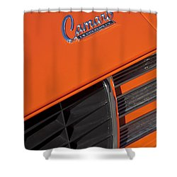 1969 Rs-ss Chevrolet Camaro Grille Emblem Shower Curtain by Jill Reger