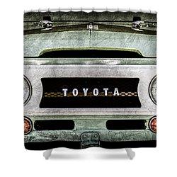 1969 Toyota Fj-40 Land Cruiser Grille Emblem -0444ac Shower Curtain