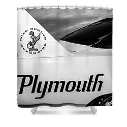 1970 Plymouth Superbird Emblem -0520bw Shower Curtain