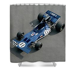 1970 Tyrell-cosworth 001, 3.0 Litre F1 Shower Curtain