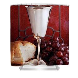 1970s Silver Communion Chalice Wine Shower Curtain