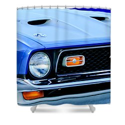 1971 Ford Mustang Boss 351 Cleveland Shower Curtain by Jill Reger