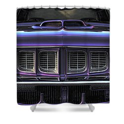1971 Plymouth 'cuda 440 Shower Curtain by Gordon Dean II