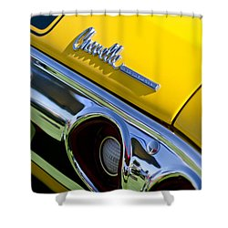 1972 Chevrolet Chevelle Taillight Emblem Shower Curtain by Jill Reger