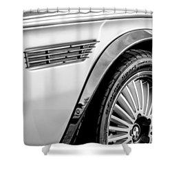 1973 Bmw 3.0 Csl Side Emblem - Wheel Emblem -1294bw Shower Curtain