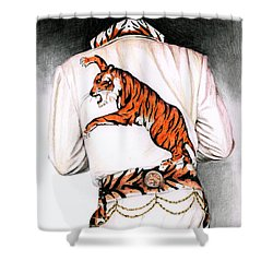 1974 Mad Tiger Suit Shower Curtain by Rob De Vries