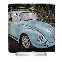 1974 Volkswagen Beetle Vw Bug Shower Curtain by Rich Franco