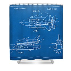 1975 Space Shuttle Patent - Blueprint Shower Curtain