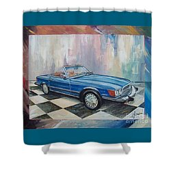 1976 Mercedes-benz 450 Sl Shower Curtain