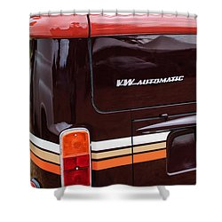 1978 Volkswagen Vw Champagne Edition Bus Taillight Emblem Shower Curtain by Jill Reger