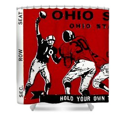 1979 Ohio State Vs Wisconsin Football Ticket Shower Curtain