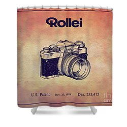 1979 Rollei Camera Patent Art 1 Shower Curtain
