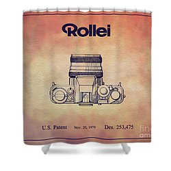 1979 Rollei Camera Patent Art 2 Shower Curtain