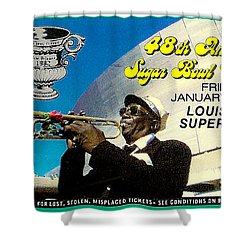 1982 Sugar Bowl Ticket Shower Curtain by David Patterson
