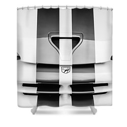 1998 Dodge Viper Gts-r Grille Emblem -0329bw Shower Curtain