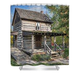 19th Century Cabin Shower Curtain