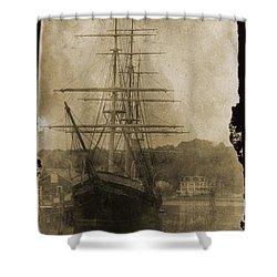 19th Century Schooner Shower Curtain