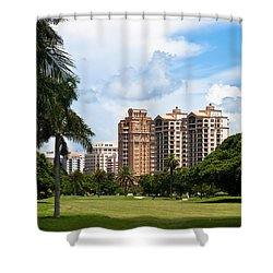 1st Hole At Granada Golf Course Shower Curtain